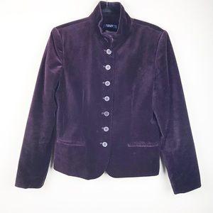 Chaps purple plummy velvet coat